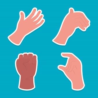 Handen pictogrammenset
