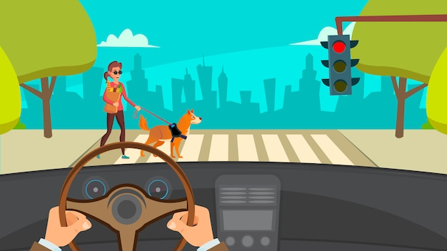 Handen rijden auto