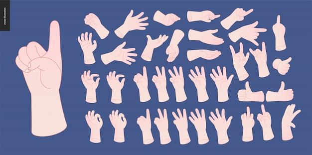 Handen vector set