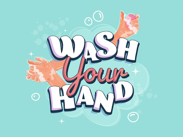 Handen wassen met zeepman voor coronaviruspreventie, hygiëne om de verspreiding van coronavirus te stoppen.