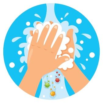 Handen wassen voor dagelijkse persoonlijke verzorging