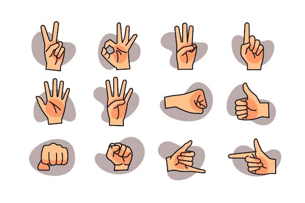 Handgebaar pictogramserie
