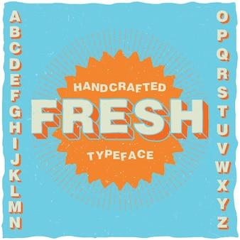 Handgemaakt lettertype in cartoon-stijl