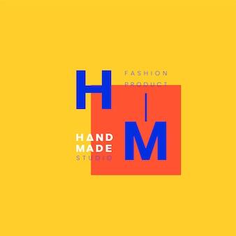 Handgemaakte ambachten logo badgeontwerp
