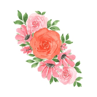 Handgemaakte aquarel bloemsierkunst