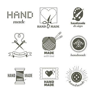 Handgemaakte conceptlogo's