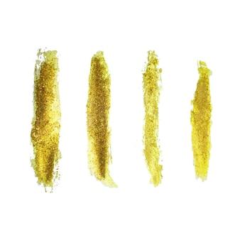 Handgemaakte gouden penseelstreek set