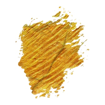 Handgemaakte gouden penseelstreekverf