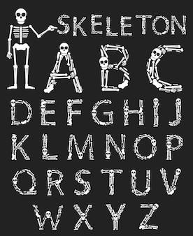 Handgemaakte halloween lettertype
