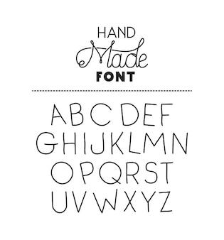 Handgemaakte lettertype alfabet