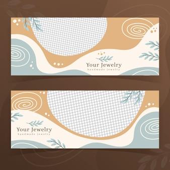 Handgemaakte sieraden banners sjabloon