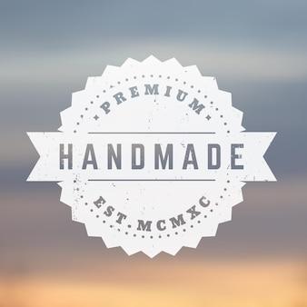 Handgemaakte vintage badge, embleem, vector stempel