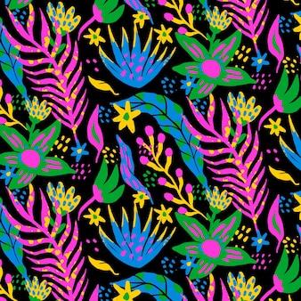 Handgeschilderd abstract bladerenpatroonontwerp