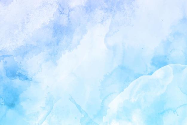 Handgeschilderd abstract blauw behang in aquarel