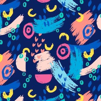 Handgeschilderd abstract schilderij patroonontwerp pattern