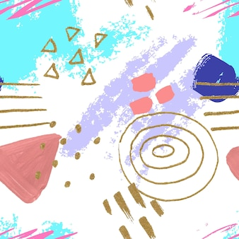 Handgeschilderd abstract schilderijpatroon