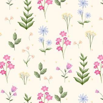 Handgeschilderd aquarel botanisch patroon