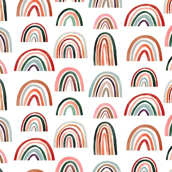Handgeschilderd aquarel regenboogpatroonontwerp pattern