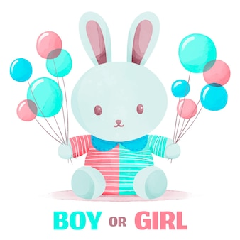Handgeschilderd gender reveal party concept