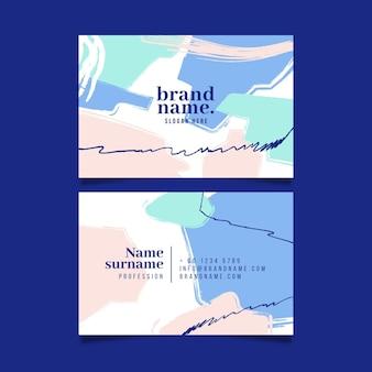 Handgeschilderd in pastelkleurvlekken visitekaartje