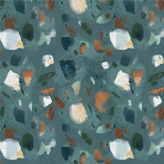 Handgeschilderd kleurrijk terrazzopatroon