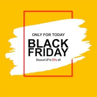 Handgeschilderd voor zwarte vrijdag verkoopkaart