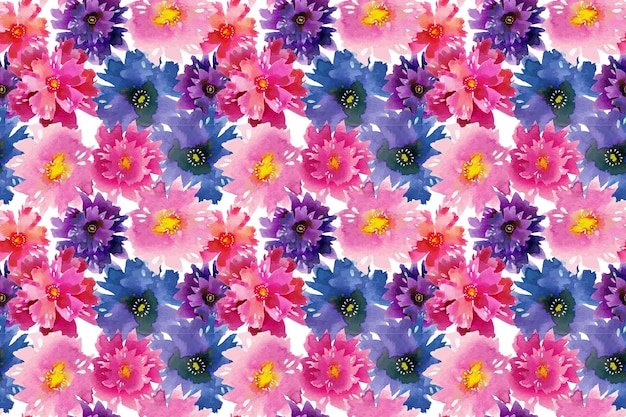 Handgeschilderde abstract floral patroon