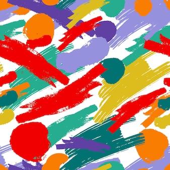 Handgeschilderde abstracte schilderkunst patroon