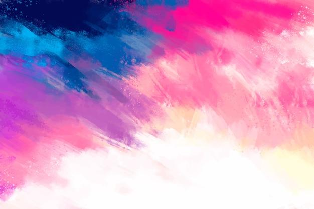 Handgeschilderde achtergrond in kleurovergang roze