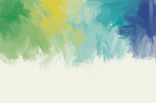 Handgeschilderde achtergrond in kleurrijk palet