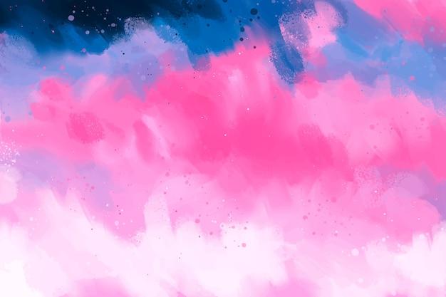 Handgeschilderde achtergrond in roze en blauw kleurverloop