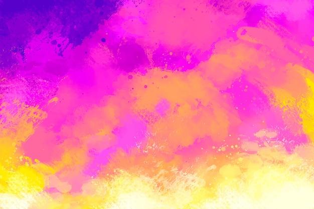 Handgeschilderde achtergrond in roze en oranje kleurverloop