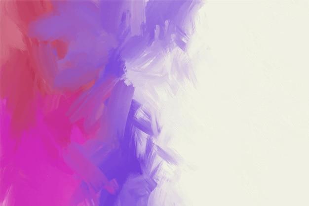 Handgeschilderde achtergrond in wit en kleurovergang violet