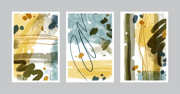 Handgeschilderde aquarel abstracte kunst cover pack