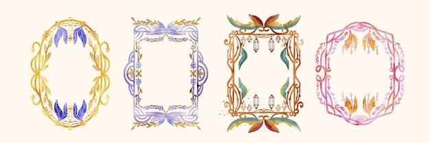 Handgeschilderde aquarel boho frames