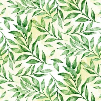 Handgeschilderde aquarel botanische patroon Gratis Vector