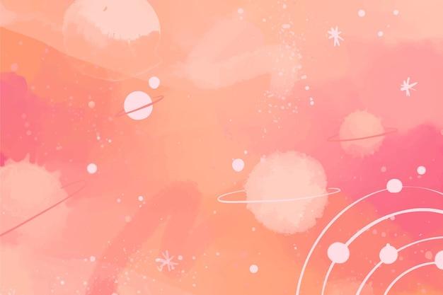 Handgeschilderde aquarel galaxy achtergrond