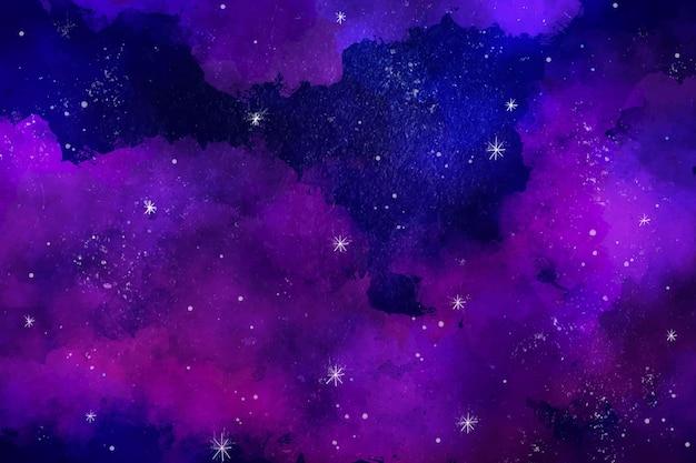 Handgeschilderde aquarel galaxy behang