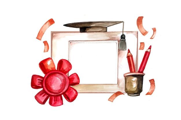 Handgeschilderde aquarel klasse van 2021 illustratie