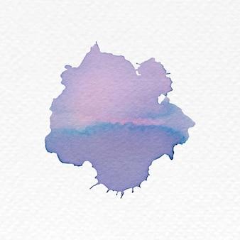 Handgeschilderde aquarel klodder vector Gratis Vector