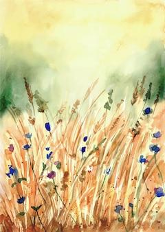 Handgeschilderde aquarel natuur achtergrond