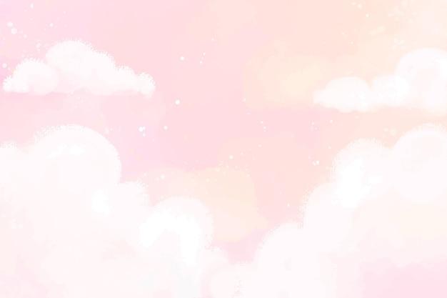 Handgeschilderde aquarel pastel hemelachtergrond