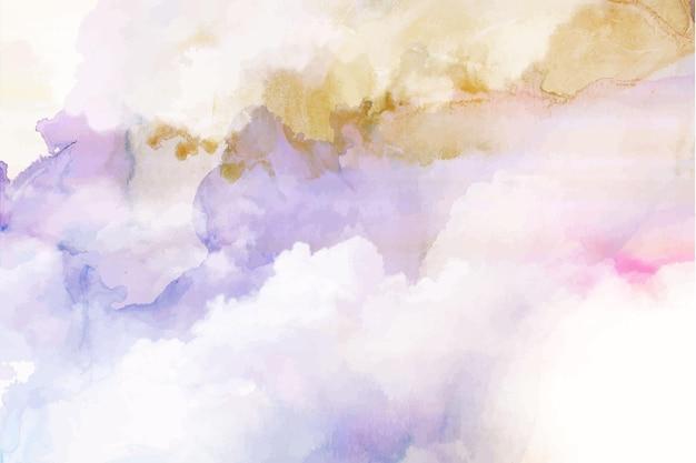 Handgeschilderde aquarel pastel hemelachtergrond Gratis Vector