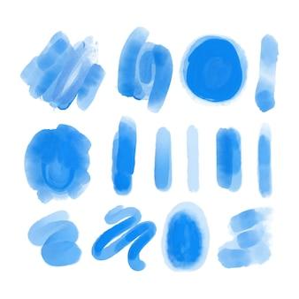 Handgeschilderde aquarel penseelstreken collectie