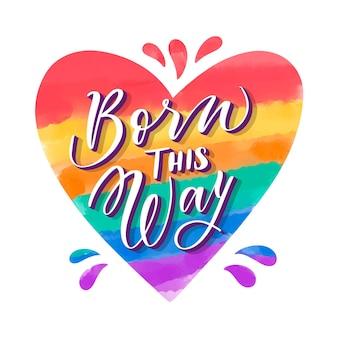 Handgeschilderde aquarel pride-dag belettering