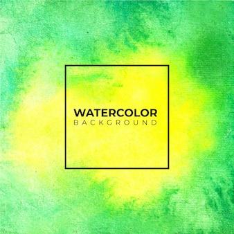 Handgeschilderde aquarel textuur van felle groene en gele kleuren.