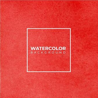 Handgeschilderde aquarel textuur van rode kleur op de witte achtergrond.