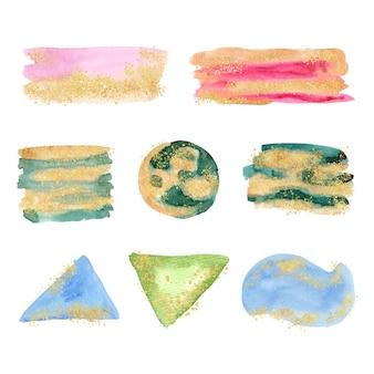 Handgeschilderde aquarel vlekken