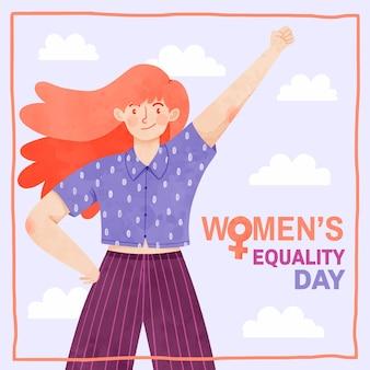 Handgeschilderde aquarel vrouwen gelijkheid dag illustratie