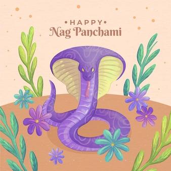 Handgeschilderde aquarel zeur panchami illustratie